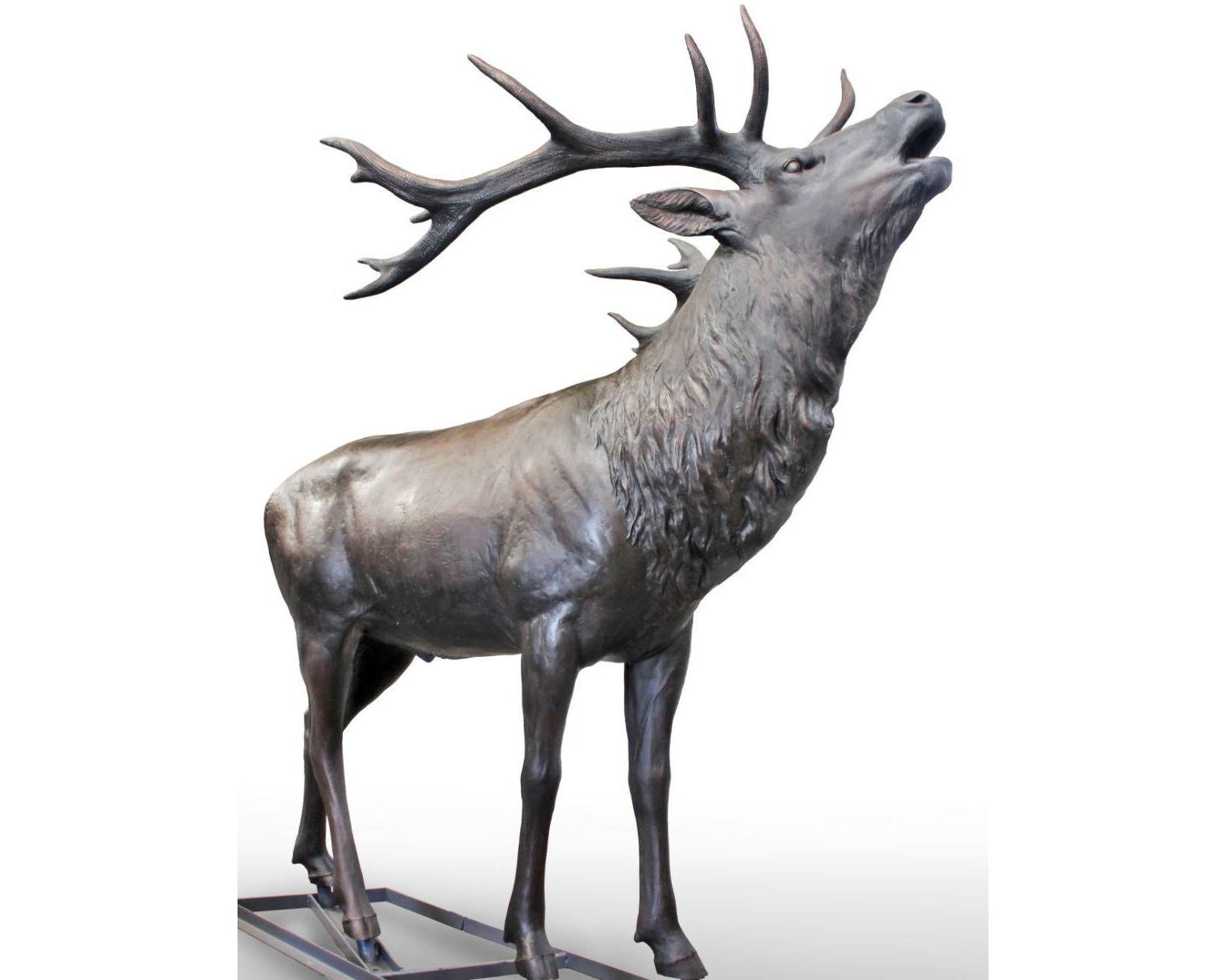 Life sized elk statue