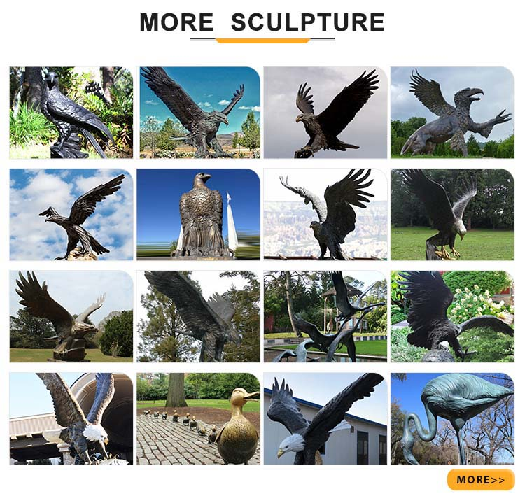 more large eagle yard statues