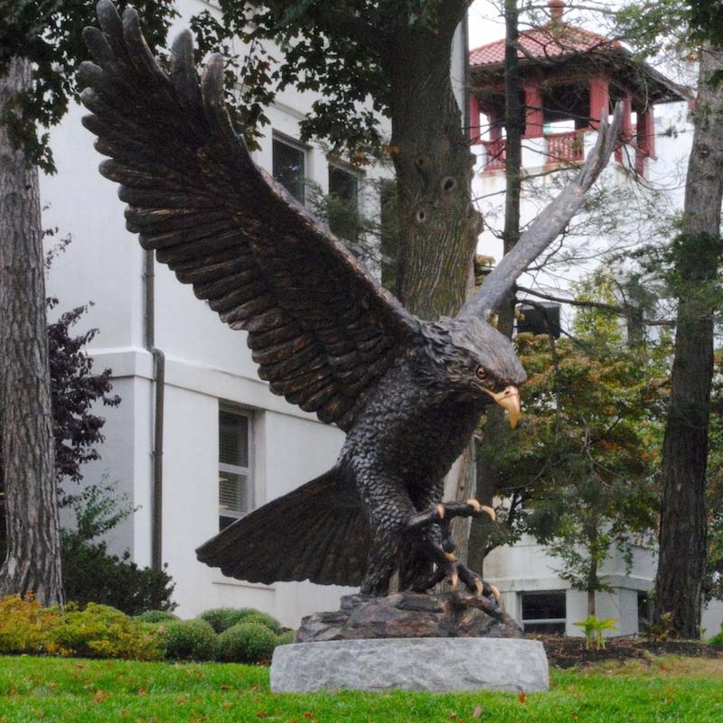 bald eagle statue outdoor