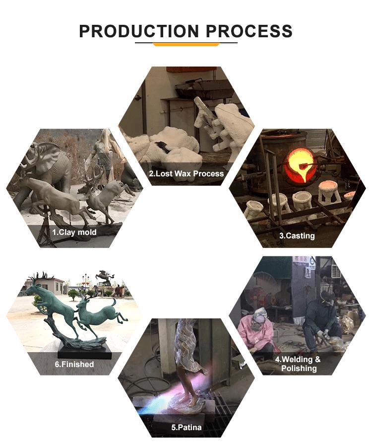 bull sculpture production process