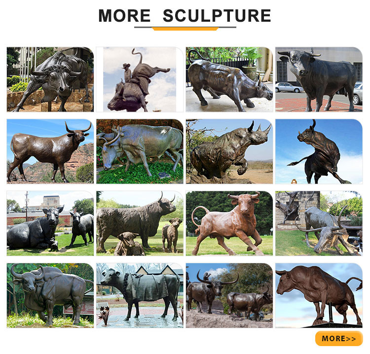 more bull sculptures
