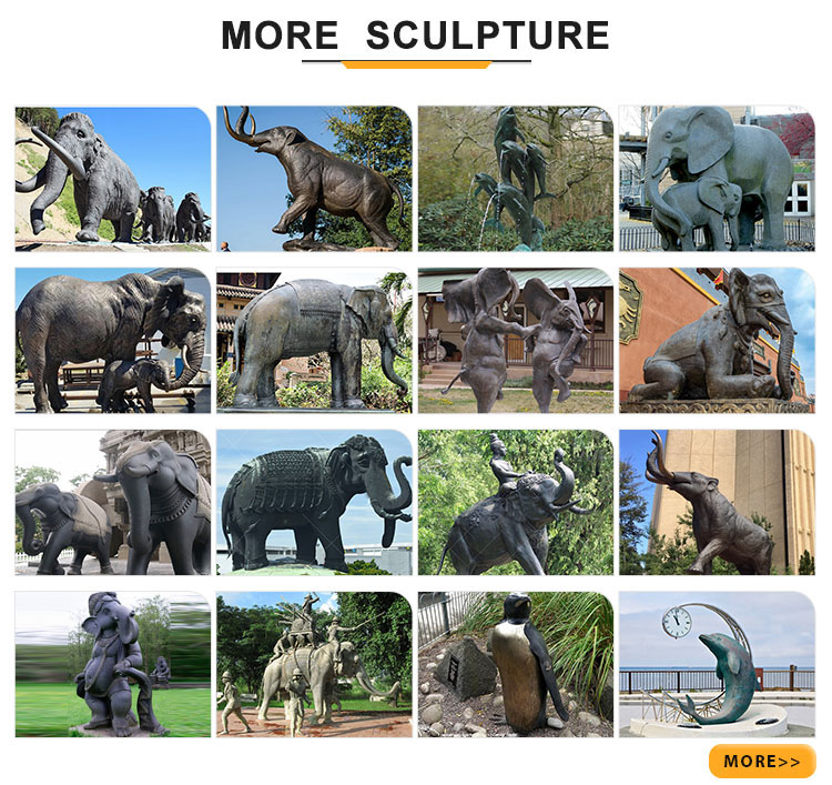 more elephant sculptures