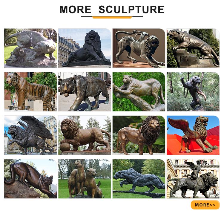more leopard sculptures
