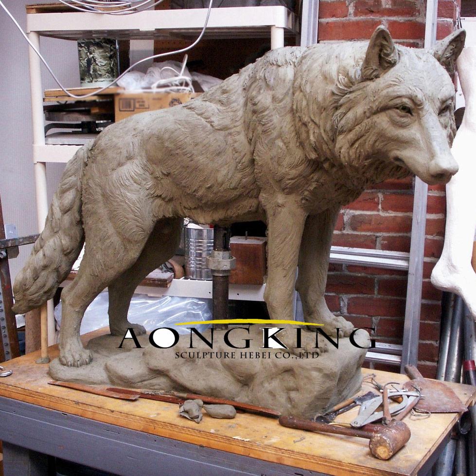 Wolf Garden Sculpture