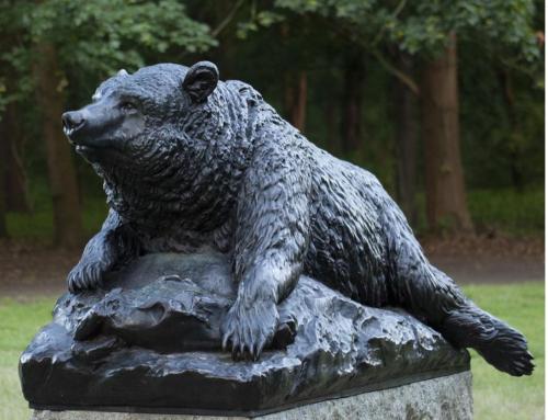 Large Outdoor Bronze Garden Bear Decor Sculpture for Sale