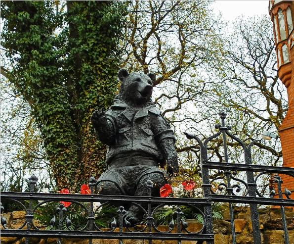 garden bear decor sculpture