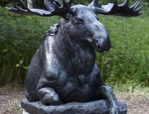Outdoor Large High Quality Bronze Decoration Lying Moose Statue