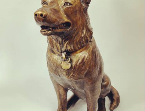 Life-Size Free Custom Outdoor Decoration Bronze Sitting Dog Sculpture
