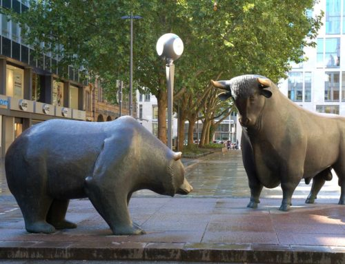 Famous Large Life-Size Bronze Bull and Bear Sculpture
